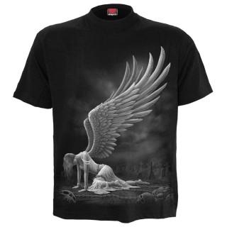 T-shirt homme gothique à ange agenouillé