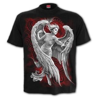 T-shirt homme gothique à ange désespéré