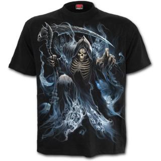 T-shirt homme gothique avec La mort entourée d'âmes