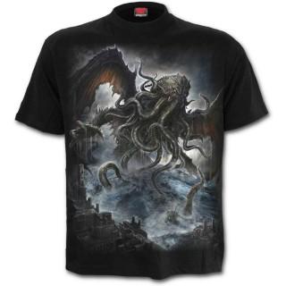 T-shirt homme gothique avec monstre des profondeurs style Kraken