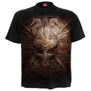 T-shirt homme gothique à Bouclier Viking