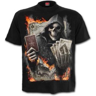 T-shirt homme gothique à carré d'As de la Mort