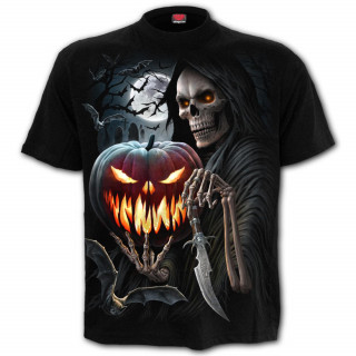 T-shirt homme gothique à citrouille de la Mort et Faucheuse