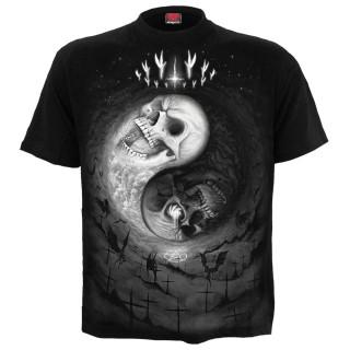 T-shirt homme gothique à cranes Yin et Yang