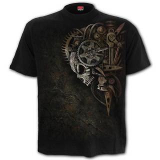 T-shirt homme gothique DIESEL PUNK à crane rouages steampunk