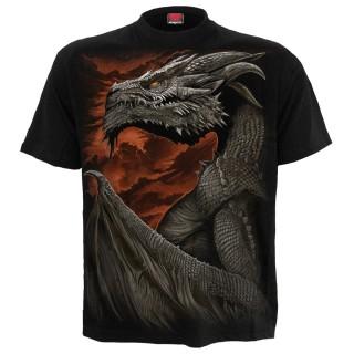 T-Shirt homme gothique à Dragon Majestueux