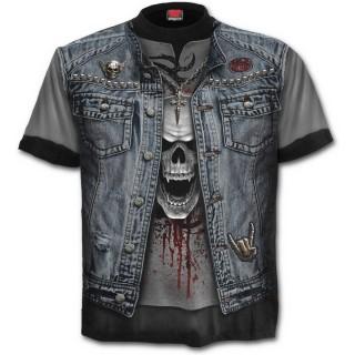 T-shirt homme gothique imitation tenue Trash Métal
