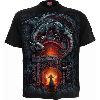 T-shirt homme gothique Le repère du dragon