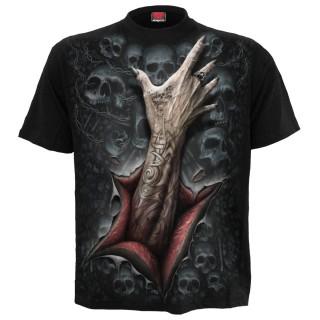T-shirt homme gothique à main étrangleuse