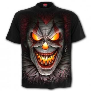 """T-shirt homme gothique """"Nuit d'effroi"""" à clown brûlant"""