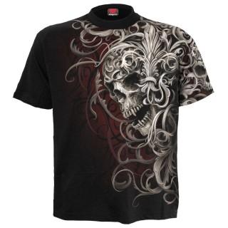 T-shirt homme gothique Skull Shoulder Wrap