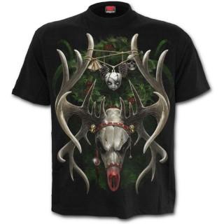 T-shirt homme gothique spécial Noel avec crane de renne