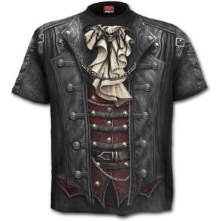 T-shirt homme à imprimé imitation tenue steamPunk