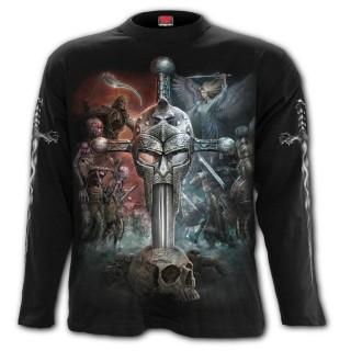 T-shirt homme manches longues à bataille épique entre 2 mondes