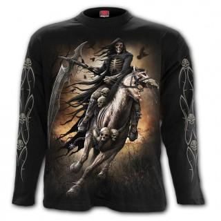 T-shirt homme manches longues à chevalier de la Mort avec sa faux