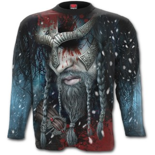 T-shirt homme manches longues à guerrier viking allant au Valhalla