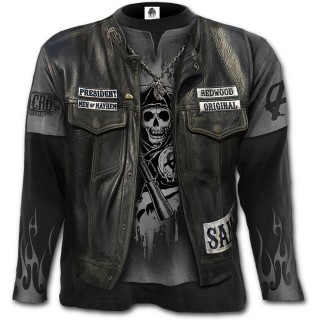 """T-shirt homme manches longues """"JAX WRAP"""" - Sons of Anarchy"""