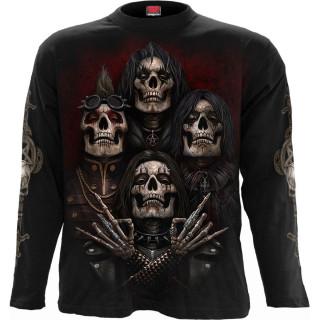 T-shirt homme manches longues à revenants style groupe gothique