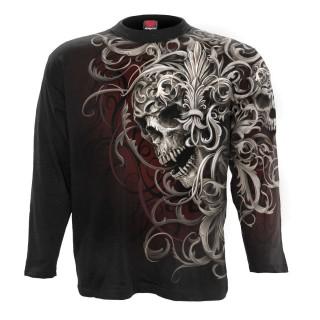 T-shirt homme manches longues Skull Shoulder Wrap