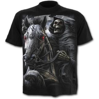 T-shirt homme noir à cavalier de la mort avec sa faux