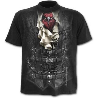 T-shirt homme noir à costume de vampire imprimé
