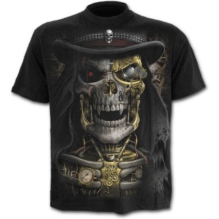 T-shirt homme squelette Steam Punk