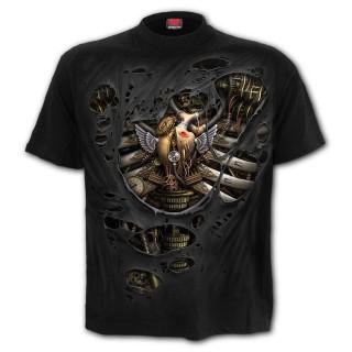 T-Shirt homme squelette Steamp Punk