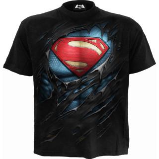T-shirt homme SUPERMAN aspect déchiré (licence officielle)