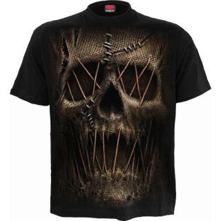 T-shirt homme à tête de mort style épouvantail
