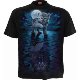 """T-shirt homme """"WILD SIDE"""" à chaton refletant un tigre féroce"""