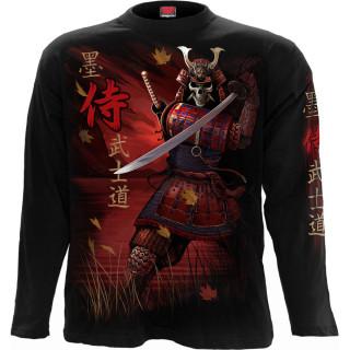 T-shirt manches longues homme à dragon asiatique et Samouraï