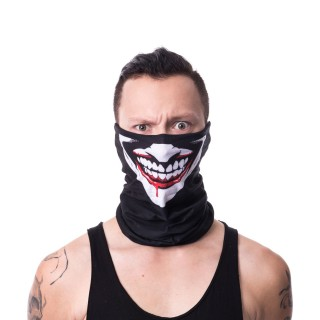 Snood (masque) gothique noir style clown sanguinaire