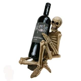 Squelette assis porte bouteille - Nemesis Now