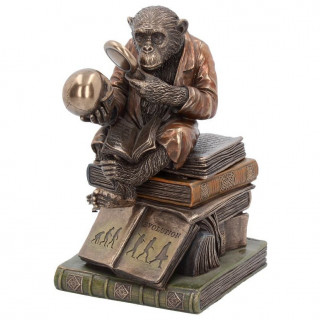 "Statue décorative ""Darwinism of Evolutionary Theory"" en polyrésine bronze - 17.5cm"
