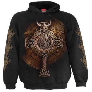 Sweat capuche gothique à Bouclier Viking