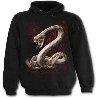 Sweat capuche gothique noir pour enfant  à serpent avec langue piercée