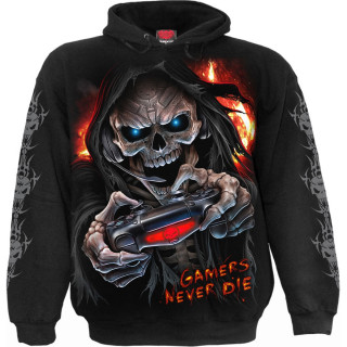 """Sweat capuche homme """"GAMERS NEVER DIE THEY RESPAWN"""""""