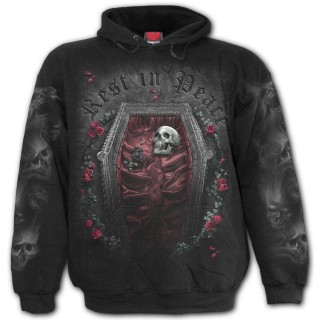 "Sweat capuche homme gothique ""REST IN PEACE"""