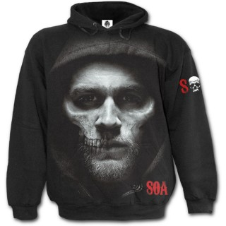 "Sweat capuche motard ""Jax Skull"" - Sons of anarchy"