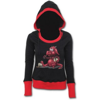 achat sweat shirt gothique femme avec dragon rouge mangeant de la glace pas cher. Black Bedroom Furniture Sets. Home Design Ideas