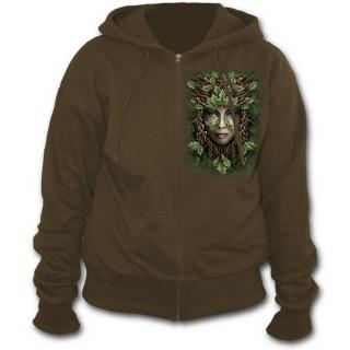 Sweat-shirt gothique femme avec reine de la nature style celtique
