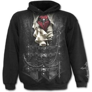 Sweat-shirt gothique homme à costume de vampire imprimé
