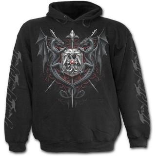 Sweat-shirt gothique homme à Dragon conquérant le royaume magique
