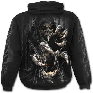 Sweat-shirt gothique homme à griffes de la mort et chaines