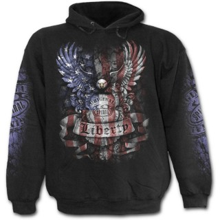 Sweat-shirt gothique homme avec aigle aux couleurs du drapeau des USA