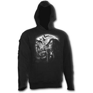 Sweat-shirt gothique homme avec ange du désespoir et chauves-souris