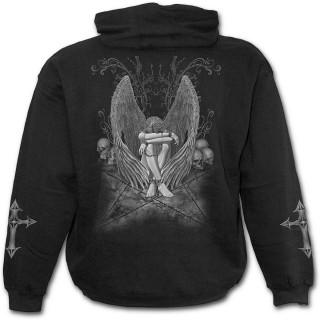 Sweat-shirt gothique homme avec ange sur pentagramme