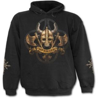 Sweat-shirt gothique homme  avec chef guerrier celte et son armée des ténèbres