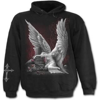 Sweat-shirt gothique homme avec femme ange pleurant son amour defunt
