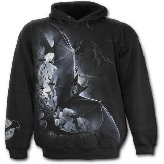 Sweat-shirt gothique homme avec groupe de chauves souris